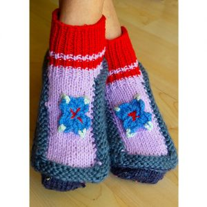 knitted adult booties