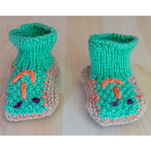 green booties